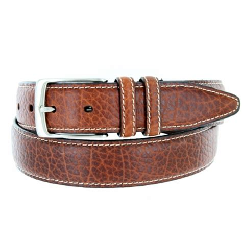 s genuine bison leather dress belt 1 3 8 quot wide