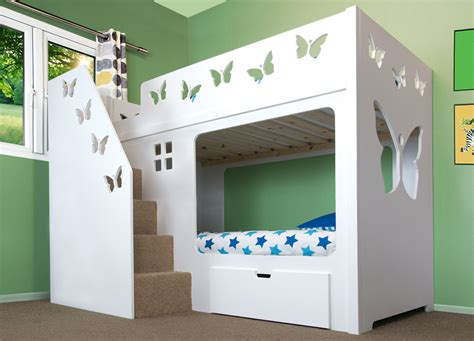 bunk bed stairs only deluxe funtime high sleeper bunk bed with drawer stairs