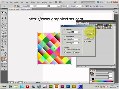 pattern illustrator cs4 tutorial rotating illustrator pattern swatches