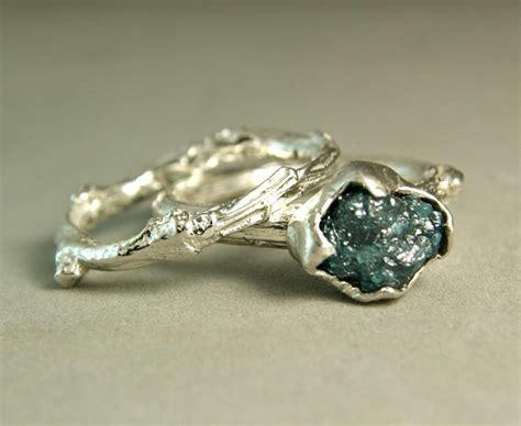 blue twig ring made custom