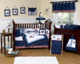 Planes Crib Bedding Navy Blue Vintage Airplane Baby Boy Crib Bedding Set 9pc Nursery Collection