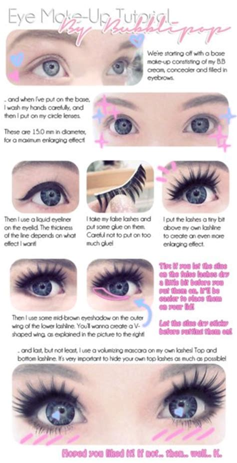 tutorial makeup kawaii please excuse all the anime doll eye makeup pins anime