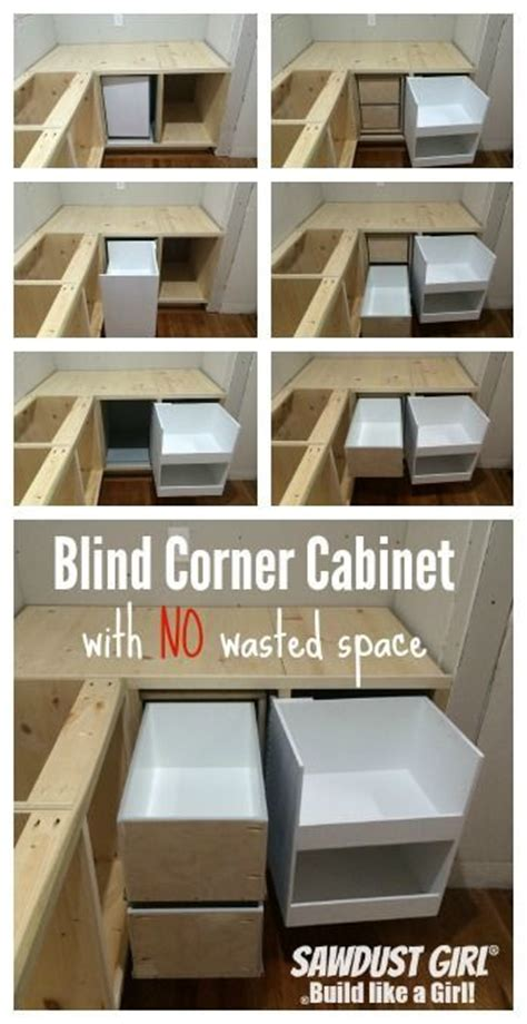 blind corner cabinet with no wasted space sawdust girl i spent the entire last week building one cabinet the