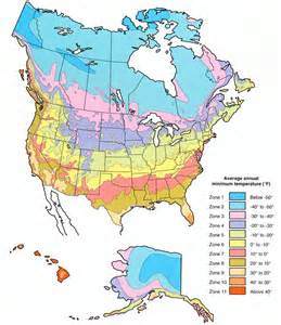 america climate zones map plant hardiness zone map for america