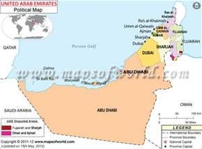 Uae World Political Map Of United Arab Emirates Uae