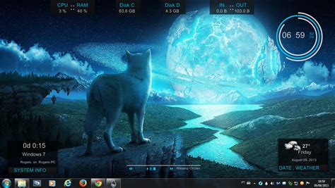 google themes wolf blue wolf rogers1967 rainmeter by rogers1967 on deviantart