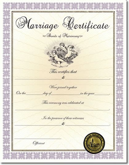 blank marriage certificate template best photos of certificate of marriage template ohio