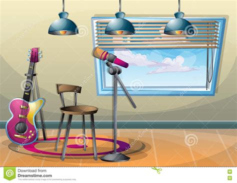 Furniture Icons For Floor Plans by Cartoon Vector Illustration Interior Music Room With