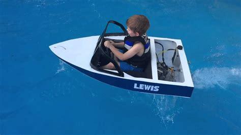 mini inboard boat mini ski boat build petrol powered youtube