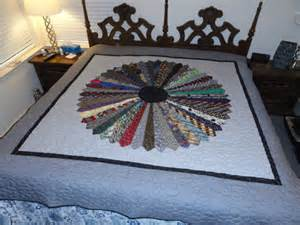 one of a 80x86 sized quilt made with mens neckties