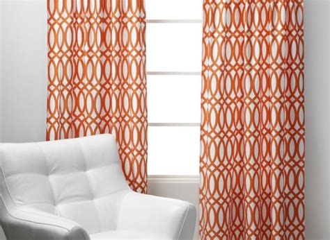 Orange Panel Curtains Geo Panels Sunset Orange Curtains