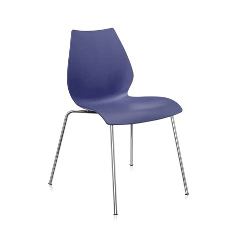 Buy Kartell Maui Chair Navy Blue Amara Navy Blue Dining Chairs