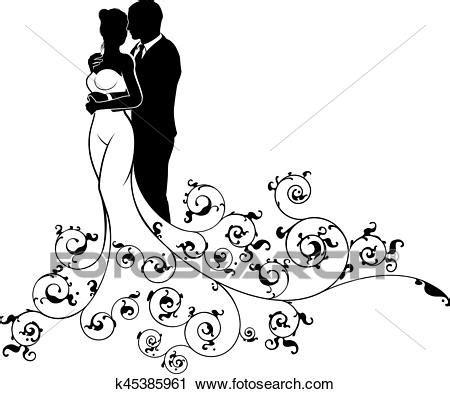 sposi clipart clipart sposa sposo coppia matrimonio silhouette