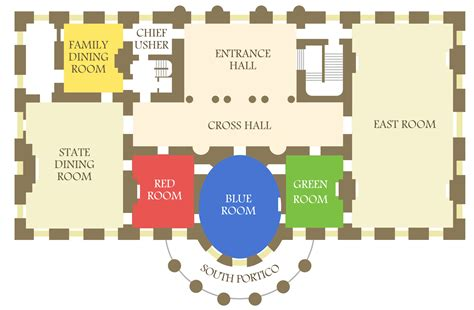 white house layout floor plan white house floor plan cottage house plans