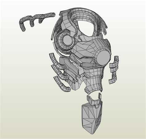 Papercraft Gas Mask - overwatch reinhardt armor foam pepakura eu