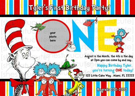 dr seuss birthday card template how to make dr seuss birthday invitations ideas
