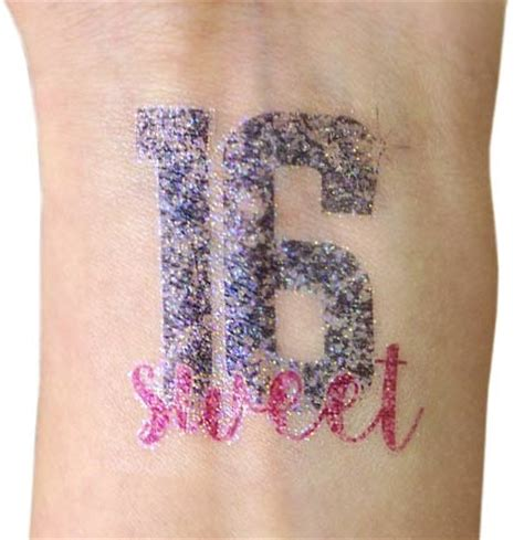 sweet 16 temporary sweet 16 birthday favors