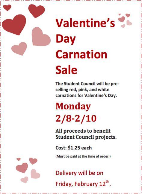 Home Tuition Board Design valentine s day carnation sale st bernard s elementary