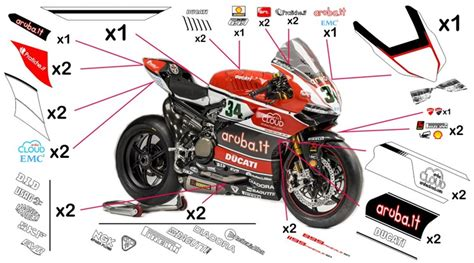 Ducati 1199 Sticker by Stickers Ducati Aruba Sbk 2015 959 1299 Panigale 2015
