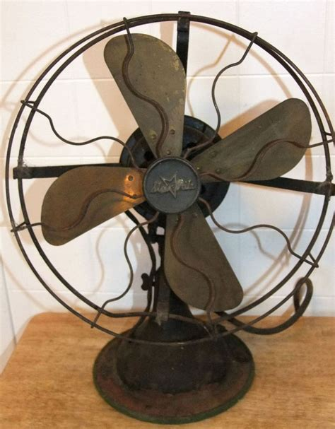 vintage fitzgerald star rite  electric fan  brass