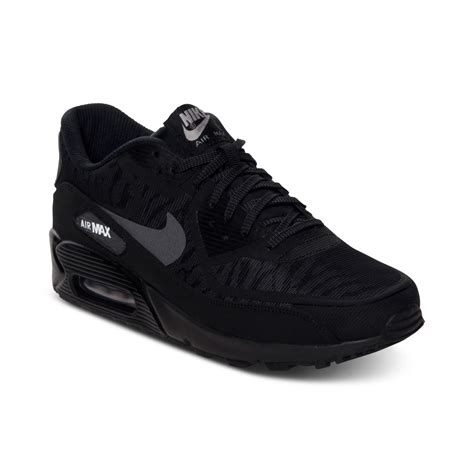black nike sneakers mens nike mens air max 90 comfort premium running sneakers
