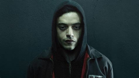 wallpaper rami malek  robot elliot alderson  tv