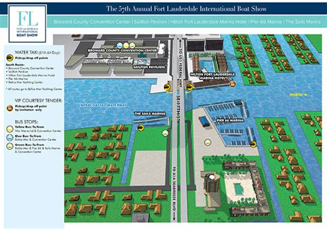 fort lauderdale boat show 2018 directions illustration and illustrated maps by escape key graphics