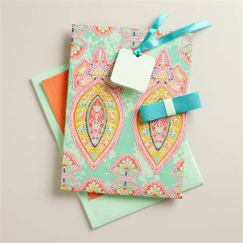 maria paisley fabric gift box kit world market