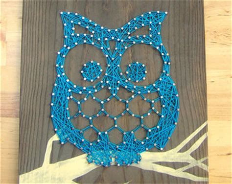 Owl String Template - modern string wooden tablet adorable owl