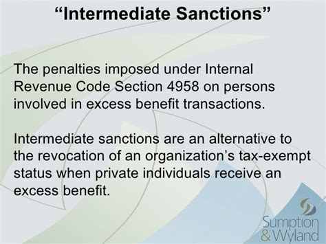 section 4958 of the internal revenue code nonprofit compliance mha 2011 01
