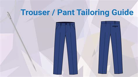 Trousers List trouser pant tailoring guide for best fit comfort