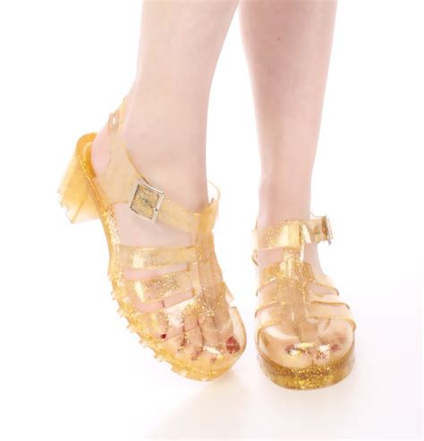 gold jelly sandals crafty sandals