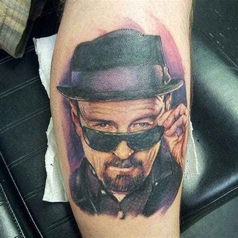 walter white tattoo awesome realistic tattoos walter white