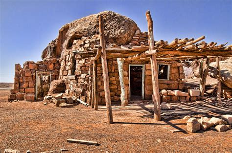 Adobe Homes Plans Old Navajo Stone House Photograph By Jon Berghoff