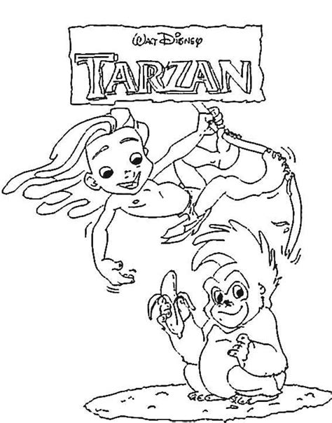 free coloring pages of tarzan n