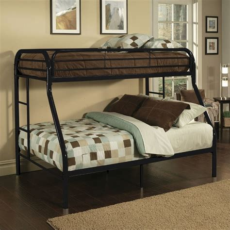 twin xl bunk bed acme furniture tritan twin xl over queen bunk bed in black
