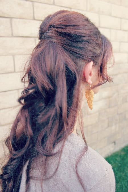 hairstyles with some hair up how to half up hairstyle ma nouvelle mode