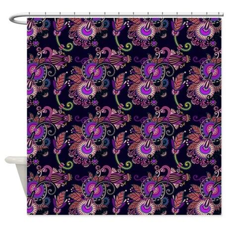 purple and pink shower curtain pink and purple paisley shower curtain by graphicallusions