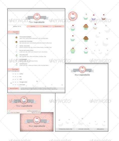 cupcake shop collateral graphicriver