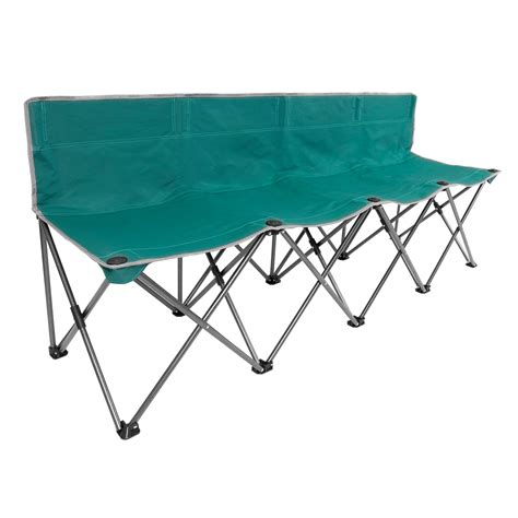 folding team bench folding 4 person team bench outdoor beach cing hiking picnic bench chair ebay