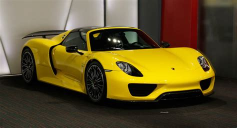 porsche spyder yellow bright yellow porsche 918 spyder could you wince