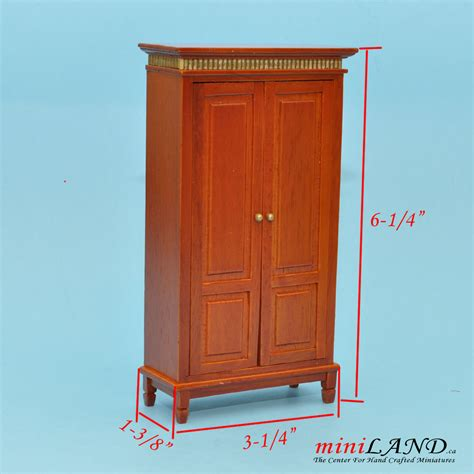 Dollhouse Furniture Clearance by Clearance Sale Cognac Cupboard For Dollhouse Miniature 1