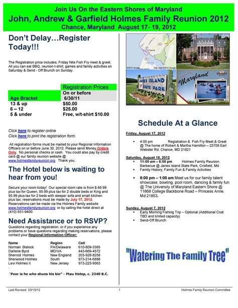 Information Packet Template I Would Like To Get A Registration Packet For Family
