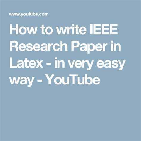 how to write an ieee paper best 25 ieee format ideas on most deadly
