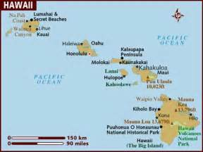 usa map hawaii state map of hawaii