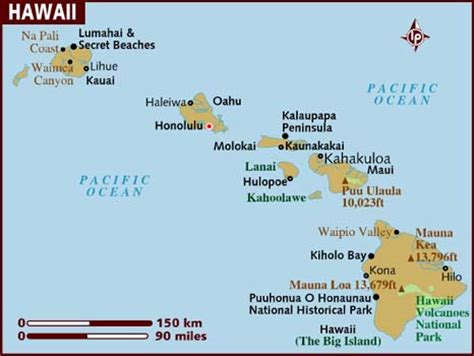 map of hawaii islands map of hawaii