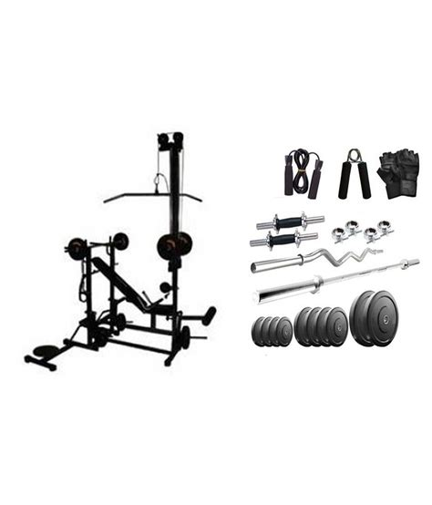 health fit india 100 kg home set with 20 in 1