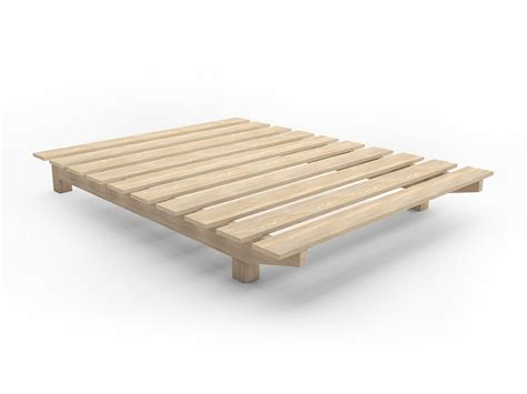 Bed Base Frame European Cusom Floating Timber Bed Base