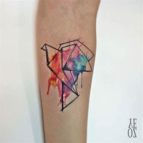 watercolor tattoo origami 109 best images about tat on