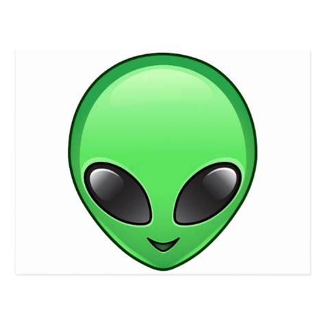 emoji alien alien emoji postcard zazzle